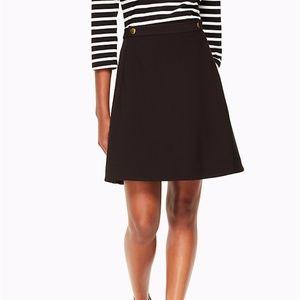 NWOT Kate Spade Crepe Military Skirt